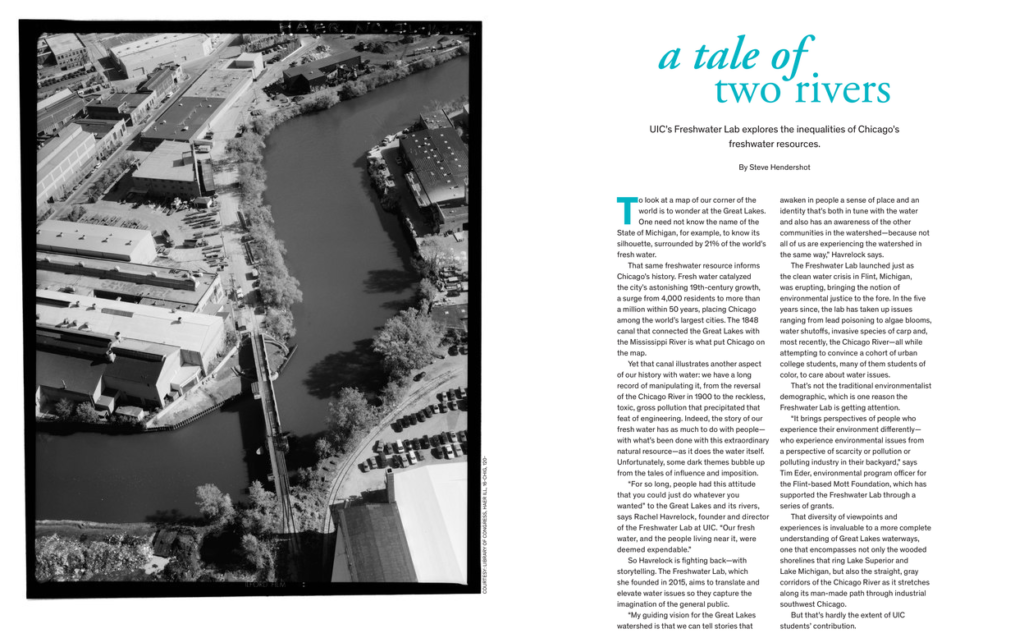 The Backward River in UIC Magazine.